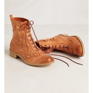 Anthropologie Miss Albright Dekalb ruffled boots